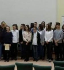 Wyróżnienie dla Michała, ucznia klasy 3d w VIII Powiatowym Konkursie Języka Angielskiego